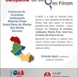 Subseção e AASP encerram a 2ª. Campanha DE OLHO NO FÓRUM