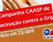 Campanha CAASP de Vacinação contra Gripe começa em 23 de abril